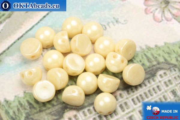 Cabochon Beads beige (LC03000) 6mm, 20pc