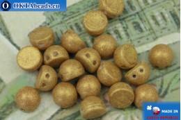 Бусины Кабошон бежевые золото матовые (S1006WH) 6мм, 20шт MK0730