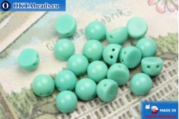 Cabochon Beads turquoise (63130) 6mm, 20pc MK0349
