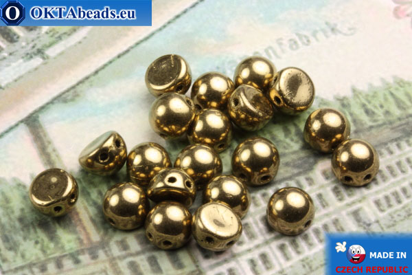 Cabochon Beads bronze (B23980) 6mm, 20pc MK0166