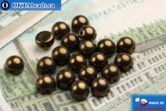 Cabochon Beads bronze (LZ23980) 6mm, 20pc