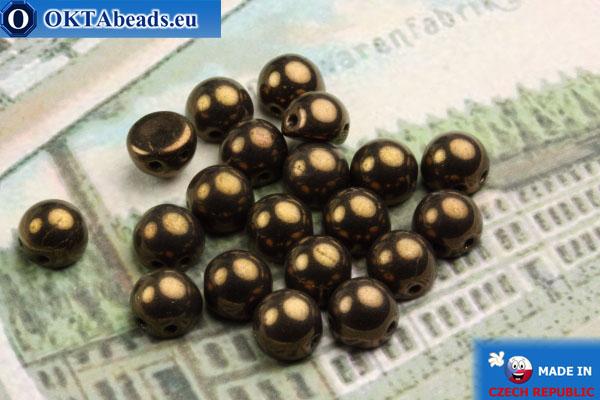 Cabochon Beads bronze (LZ23980) 6mm, 20pc MK0155