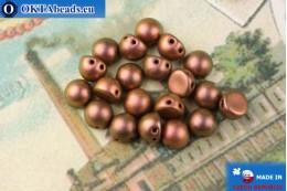 Cabochon Beads bronze metallic matte (94100JT) 6mm, 20pc