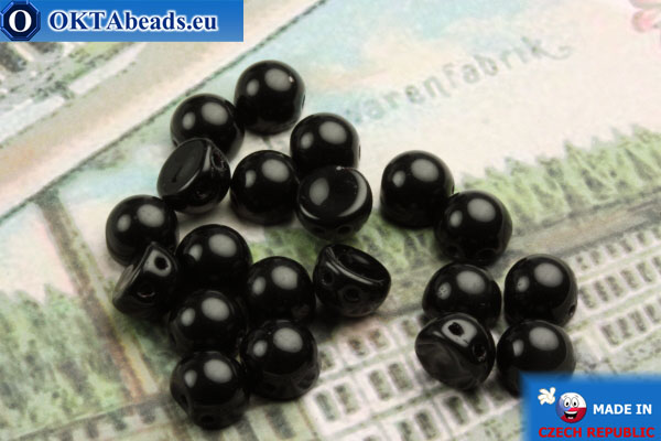 Cabochon Korálky černý (23980) 6mm, 20ks