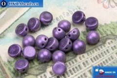 Бусины Кабошон фиолетовые матовые (79021MJT) 6мм, 20шт