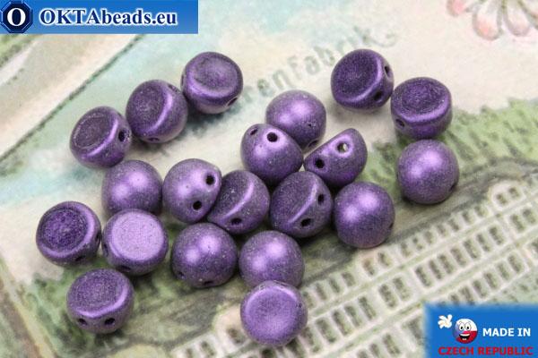 Бусины Кабошон фиолетовые матовые (79021MJT) 6мм, 20шт MK0351