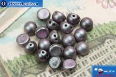 Бусины Кабошон фиолетовые матовые (94102JT) 6мм, 20шт