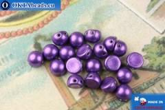 Бусины Кабошон фиолетовый металлик (77048CR) 6мм, 20шт