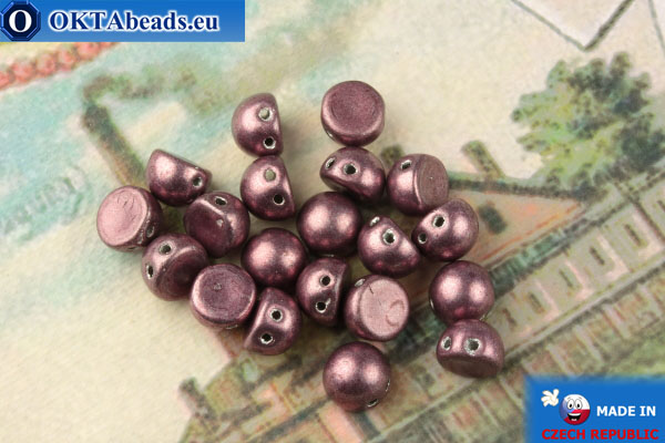 Бусины Кабошон фиолетовый металлик (77049CR) 6мм, 20шт MK0456