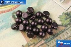 Бусины Кабошон фиолетовый металлик матовый (79083MJT) 6мм, 20шт