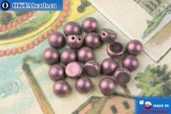 Cabochon Korálky fialový metalíza matný (79086MJT) 6mm, 20ks