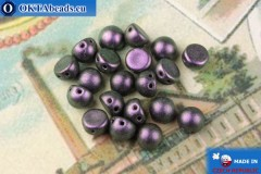Cabochon Korálky fialový metalíza matný (94101JT) 6mm, 20ks