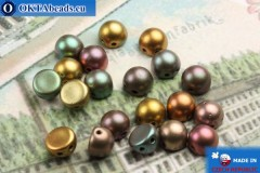 Cabochon Beads iris metallic matte (K0164) 6mm, 20pc