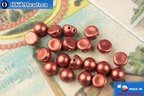 Бусины Кабошон красный металлик матовый (04B01) 6мм, 20шт MK0445