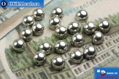 Cabochon Beads silver (27000CR) 6mm, 20pc