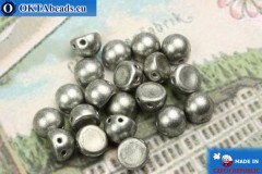 Cabochon Beads silver matte (77053CR) 6mm, 20pc
