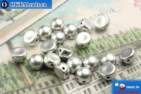 Cabochon Korálky stříbro matný (K0170JT) 6mm, 20ks MK0162