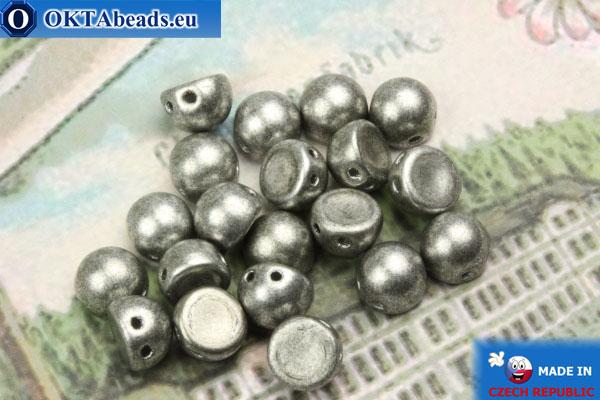 Cabochon Beads silver matte (77053CR) 6mm, 20pc