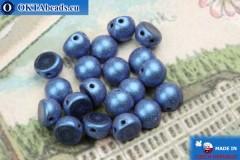 Cabochon Beads blue matte (79031MJT) 6mm, 20pc