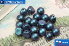 Cabochon Beads blue matte (94105JT) 6mm, 20pc