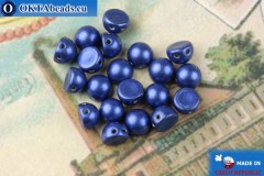 Cabochon Beads blue metallic (77050CR) 6mm, 20pc, MK0455