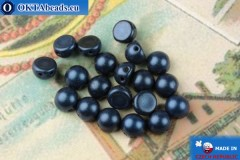 Cabochon Beads blue metallic matte (79032MJT) 6mm, 20pc