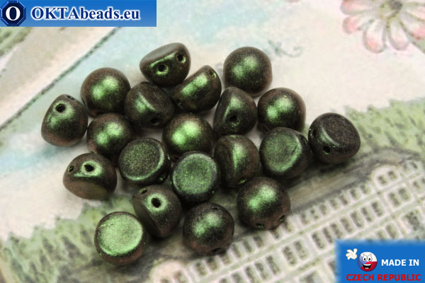 Cabochon Beads green matte (94103JT) 6mm, 20pc