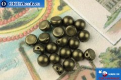 Cabochon Beads green metallic matte (79082MJT) 6mm, 20pc