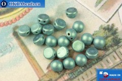 Cabochon Beads green metallic matte (79051MJT) 6mm, 20pc, MK0451