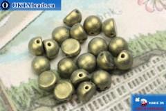 Бусины Кабошон золото матовые (79080MJT) 6мм, 20шт