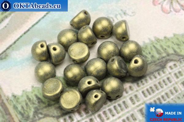 Cabochon Beads gold matte (79080MJT) 6mm, 20pc