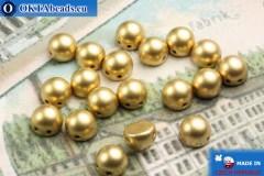 Cabochon Beads gold matte (K0171JT) 6mm, 20pc