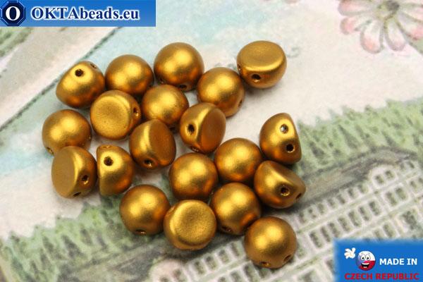 Cabochon Beads gold matte (K0173JT) 6mm, 20pc