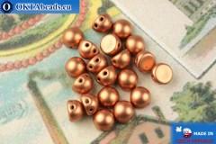 Cabochon Beads gold metallic matte (K0177JT) 6mm, 20pc MK0443