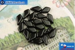 Kite Beads black (23980) 9x5mm, 20pc MK0559