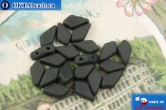 Kite Beads black matte (23890/84110) 9x5mm, 20pc
