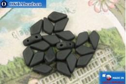 Korálky Kite černý matný (23890/84110) 9x5mm, 20ks MK0558