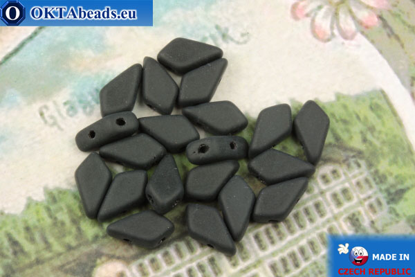 Kite Beads black matte (23890/84110) 9x5mm, 20pc MK0558