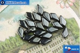 Kite Beads hematite (23980/14400) 9x5mm, 20pc MK0560