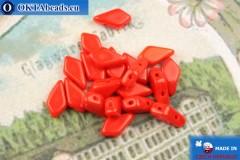 Kite Beads red (93190) 9x5mm, 20pc