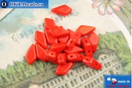 Kite Beads red (93190) 9x5mm, 20pc MK0566