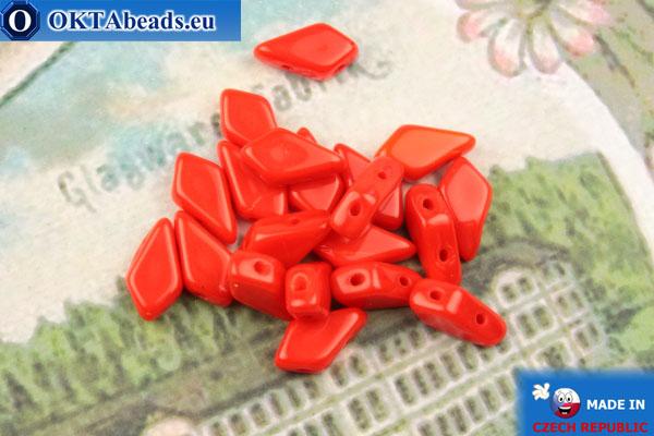 Бусины Кайт красные (93190) 9х5мм, 20шт MK0566