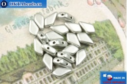 Kite Beads silver matte (00030/01700) 9x5mm, 20pc MK0553