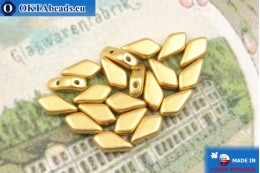 Kite Beads gold matte (00030/01710) 9x5mm, 20pc MK0554