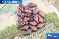 Korálky Kite fialový zlatý lesk (03000/15726) 9x5mm, 20ks