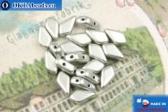 Бусины Кайт серебро матовые (00030/01700) 9х5мм, 20шт, MK0553