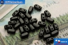 Bricks Beads black (23980) 3x6mm, 30pc