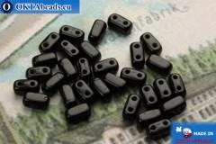 Бусины Кирпичик черные (23980) 3х6мм, 30шт MK0196