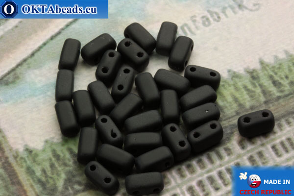 Bricks Beads black matte (M23980) 3x6mm, 30pc MK0199