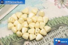 NIB-BIT Beads beige luster (LC03000) 6x5mm, 30pc MK0368